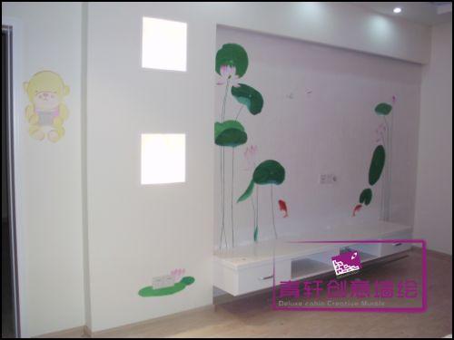 长沙手绘墙,长沙墙体彩绘,长沙墙绘公司,手绘背景墙 手绘电视机背景墙