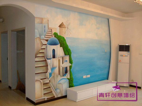 地中海风格风景画