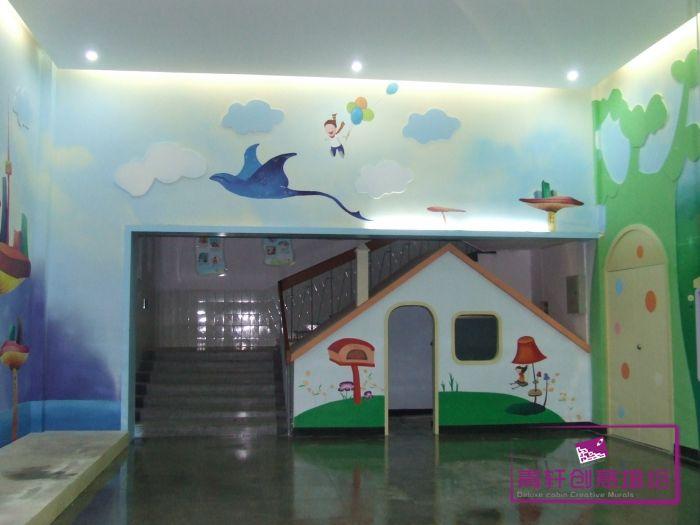 幼儿园城堡主题墙饰设计图片
