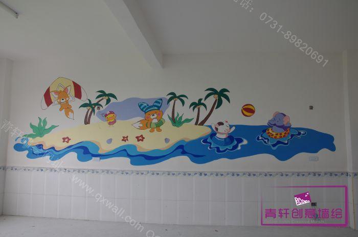 手绘墙长沙壁画长沙墙绘公司 长沙青轩装饰
