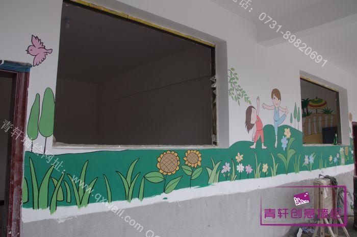 丙烯颜料,墙漆 工程地点:江西修水上衫中心幼儿园