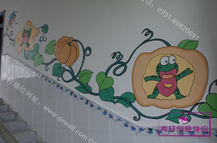 欧式楼梯墙绘图片