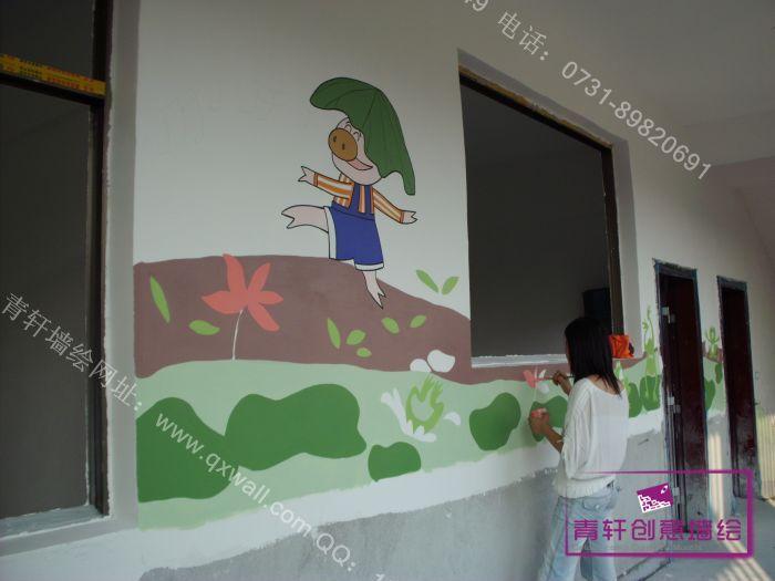 上衫中心幼儿园外墙墙绘壁画,包括走廊和楼梯。经过幼儿园内墙绘制并得到了园长的高度肯定 后,园方把走廊和楼梯继续交给我们公司做.在设计过程中,是由公司画师现场创作而成。整体颜色和风 格统一,并具有一定的装饰味道,充满童话趣味。 设计风格类型:幼儿园壁画、墙绘-立体卡通                  公司地址:湖南长沙芙蓉中路59号建鸿达现代公寓北栋1109室