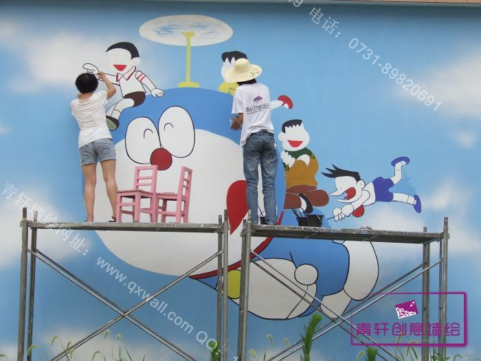 幼儿园天空动物彩绘