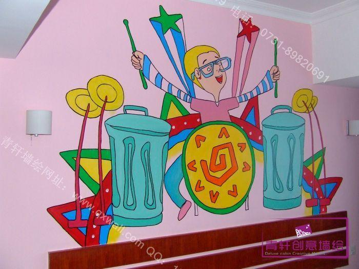 音乐墙绘图片素材