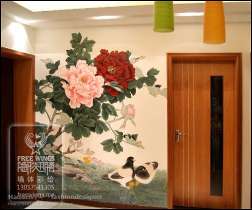 长沙壁画-工笔画系列-长沙墙绘,长沙手绘墙,长沙墙绘