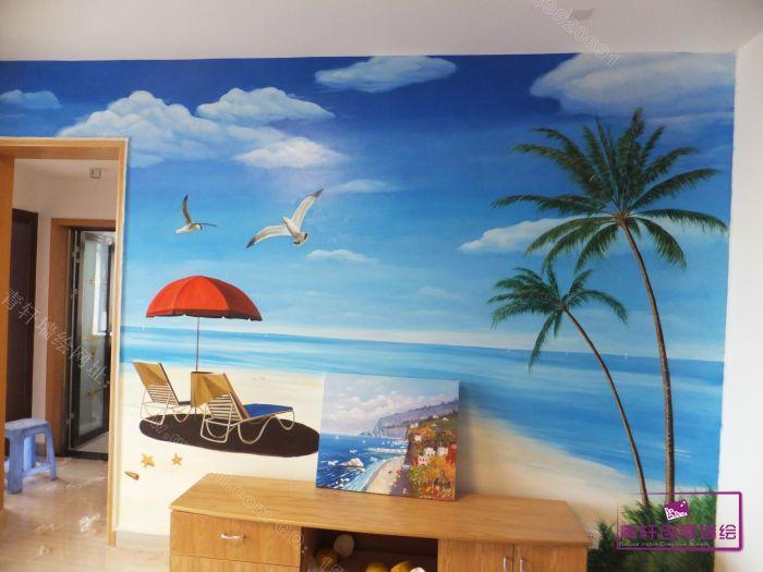 长沙四方坪第一湾电视背景墙风景和装饰画
