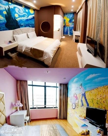 长沙非特主题创意连锁酒店手绘墙