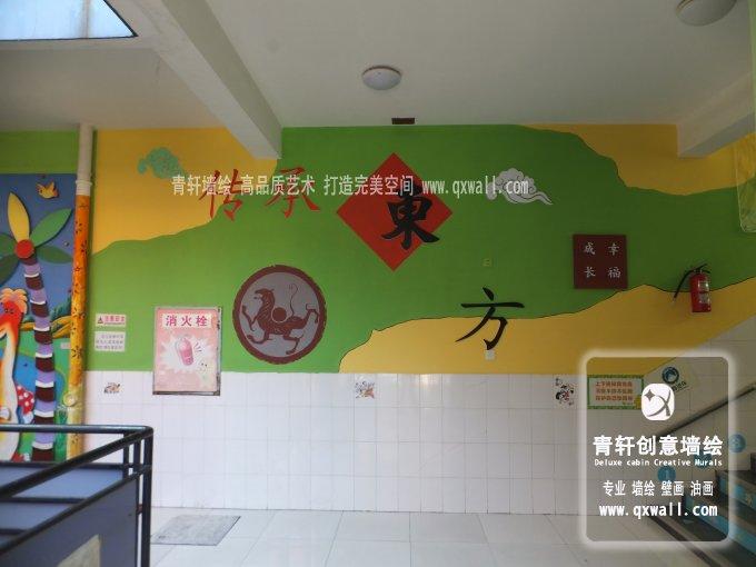 长沙万婴东方幼儿园楼梯浮雕装饰