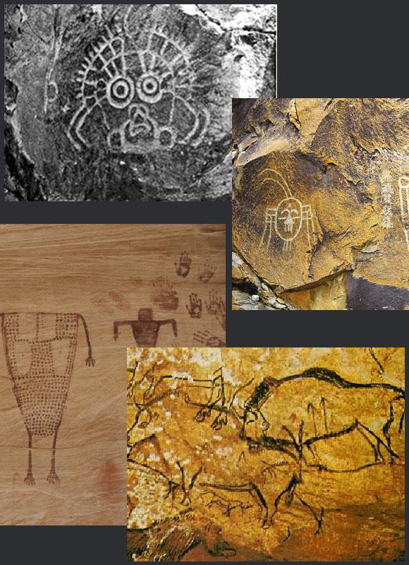 壁画发展史之南美岩画 上几章讲到欧洲史前壁画的发展,接下来我们带领大家了解北美的史前壁画发展。在广袤的北美洲,史前主要居住着爱斯基摩人和印第安人,那么史前的壁画艺术主要由这两个种族所作。爱斯基摩人主要分布于加拿大,印第安人主要分布于美国墨西哥。 1、爱斯基摩人岩画 在加拿大北部边缘林线以北、阿拉斯加北缘及北极群岛、哈得逊湾内岛屿沿岸的冻土地带,她们的岩画作品中很多表现与其生活有关的水、鱼、船等意象,还包含人面像和猎物等题材。阿拉斯加南部是因纽特岩画的集中点,且明显地受到西北部海岸地区岩画的强烈影响。也许是