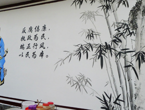 陶公庙文化墙