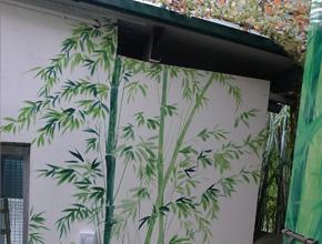长沙生态动物园熊猫馆墙绘