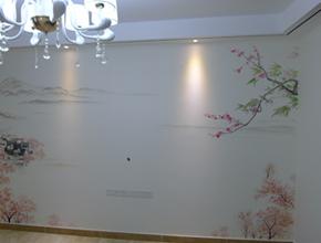 苏女士美丽的新家-电视机背景墙绘