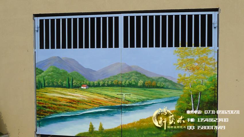 佳兆业天墅是高档别墅区,环境优美宜人,位于美丽的石燕湖景区。 彩绘美化工程,主要是对一些突兀的井盖进行彩绘美化,还有黑色的车库门做一幅风景墙绘。 绘画内容主要与自然环境相融合,一些花草的点缀,融入优美的环境中。