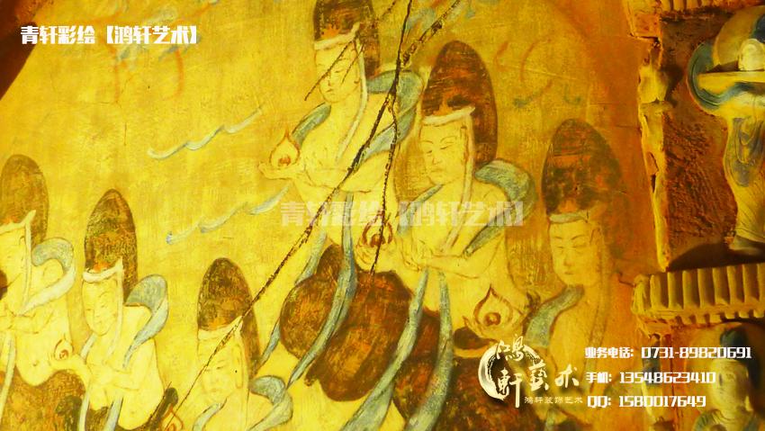 寺庙彩绘局部