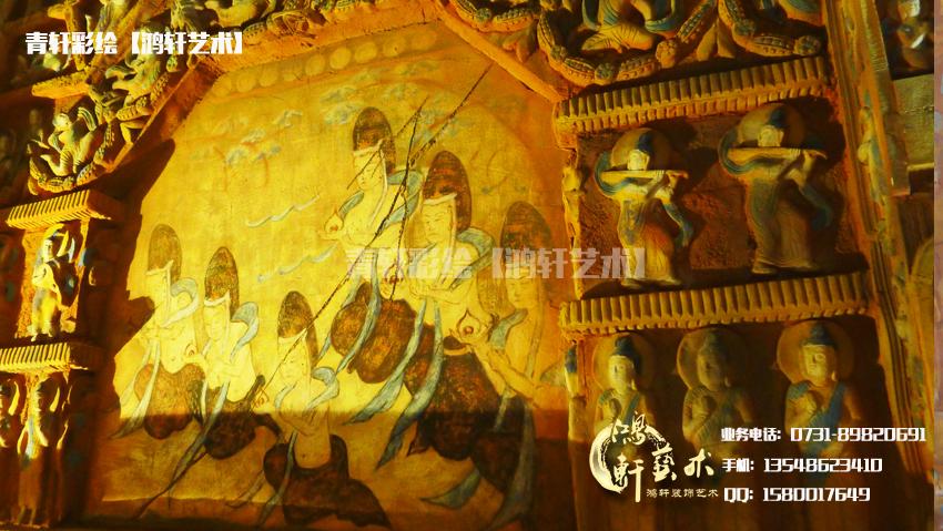 佛教彩绘图