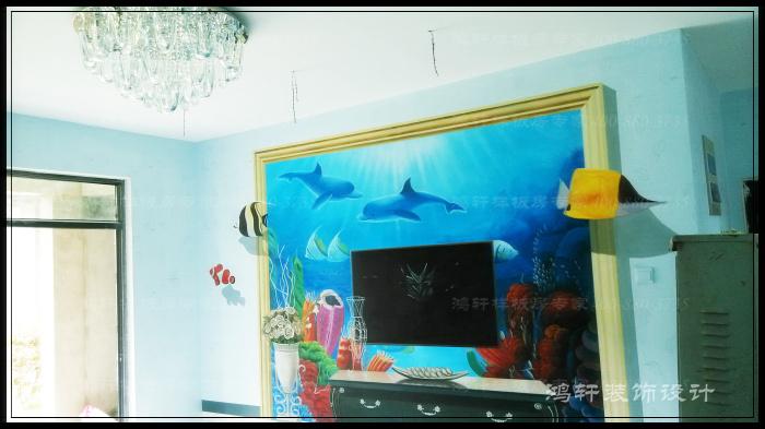 清水样板房彩绘客厅