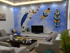 电视机背景墙墙绘