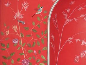 青竹湖别墅壁画手工壁纸