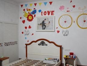 林总女儿的婚房墙绘