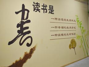 图书馆墙绘,学校墙绘,学校文化墙