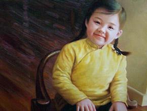 香港富商定制的小女孩油画肖像