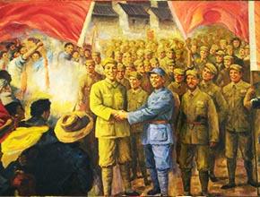 浙江丽水革命纪念馆大型创作壁画