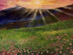 一幅风景墙绘的制作过程