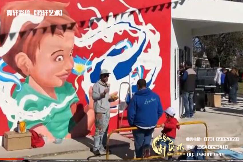 墙绘画家涂鸦中