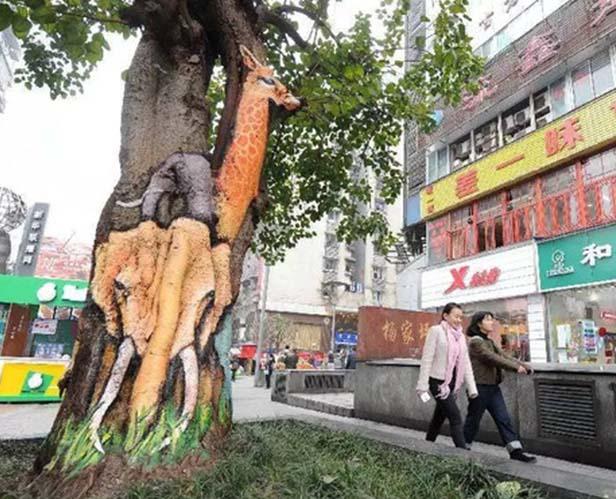 动物也疯狂之艺术彩绘创意街