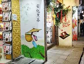 长沙太平老街店铺墙绘