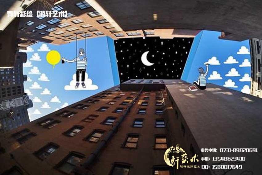 城市天空插画