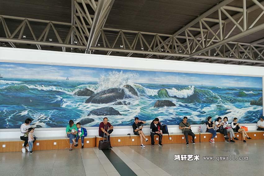 图一机场墙绘