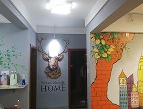 青春现代风格家装墙绘