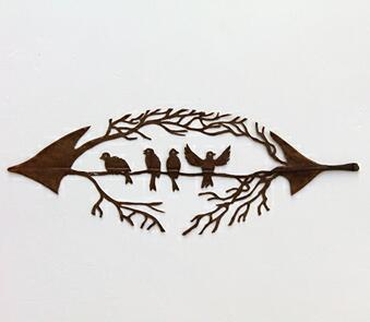 树叶上的艺术