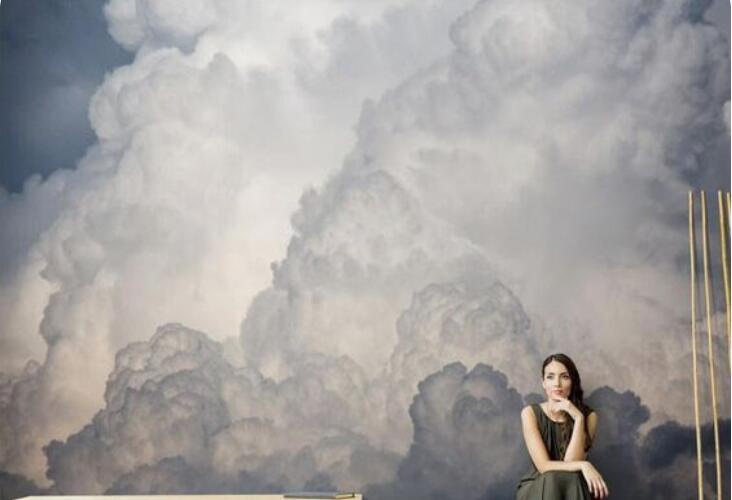 """""""天空中的棉花糖""""——云朵壁画"""